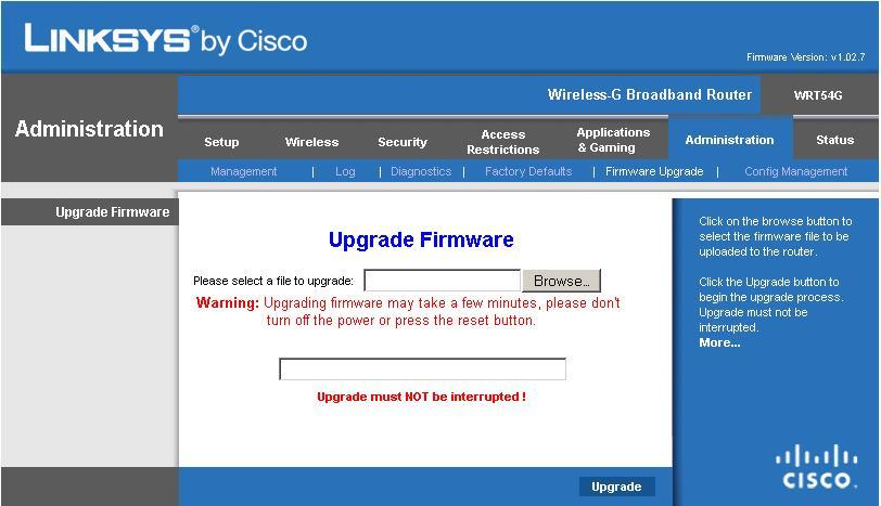 linksys_firmware_upgrade